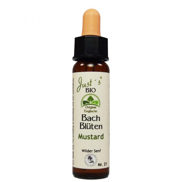 Original englische BIO Bachblüten Tropfen Mustard/ Ackersenf Nr. 21