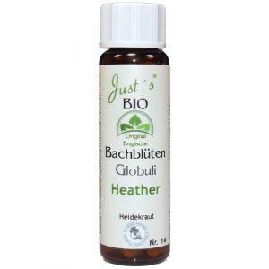 Heather Nr. 14 Globuli Just´s BIO Bachblüten alkoholfrei